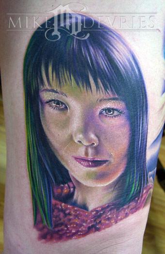 Bjork By Mike Devries Tattoos