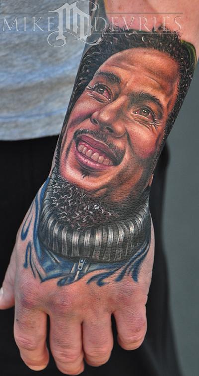Mike devries tattoos portrait bob marley tattoo for Bob marley tattoo
