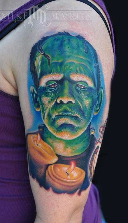 Mike Devries Tattoos Movie Frankenstein Tattoo