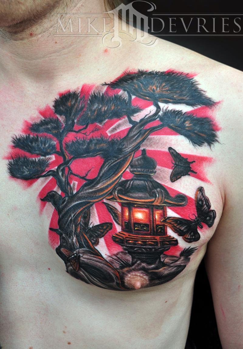 Japanese Lantern By Mike Devries Tattoos