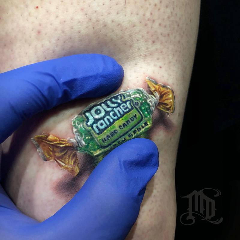 Mike Devries Tattoos Oddities Jolly Rancher 3d Tattoo