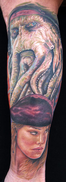 Davy Jones Tattoo Traditional