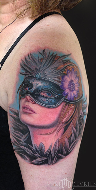 Masquerade Tattoo By Mike DeVries TattooNOW