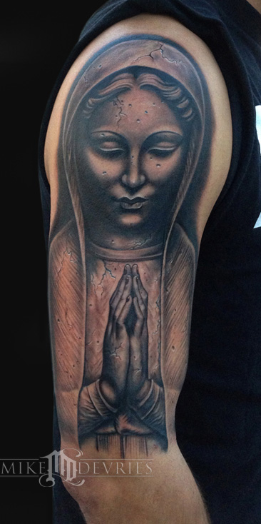 Madonna Statue By Mike DeVries TattooNOW