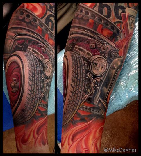 ford coupe tattoo by mike devries tattoonow. Black Bedroom Furniture Sets. Home Design Ideas